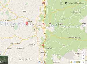 Google Map pour se rendre à Douelle